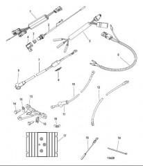 Схема Комплект усилителя рулевого механизма вспомогательного двигателя (897478K01)