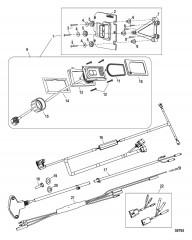 Комплект системы управления дифферентом Active Trim Одинарный двигатель – 75/90/115 EFI четырехтактн.