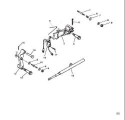 Схема Компоненты механизма переключения передач (Исп. с крышкой коромысла из литого алюминия)