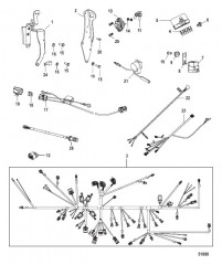 Схема Wiring Harness and Lifting Brackets