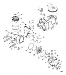 Схема Компоненты воздушного компрессора (Конструкция III)