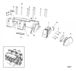 Схема Воздухозаборная камера и корпус дроссельной заслонки Цифровое управление газом и реверсом