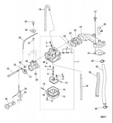Схема Карбюратор Модели EPA, сер. номер 0R448033 и выше