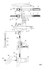 Двигатель для тралового лова в сборе (Модель FW30HT) (12 В)