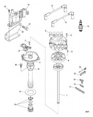 Схема Distributor and Ignition Components
