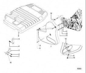 Крышка двигателя и ремня