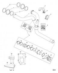 Комплект выводящей трубы глушителя X-Haust Сдвоенный выход правого борта