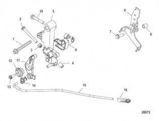 Схема Throttle Linkage Tiller