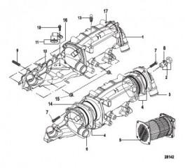 Схема Впускной коллектор/теплообменник