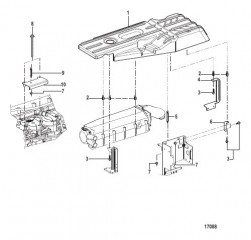 Схема Крышка двигателя