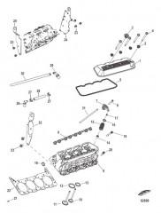 Головка цилиндра и крышка коромысла