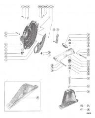 Схема КОРПУС МАХОВИКА И ОПОРА ДВИГАТЕЛЯ