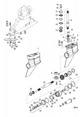 Схема Картер редуктора (Bravo I XR/SportMaster)(0M955633 и ниже)