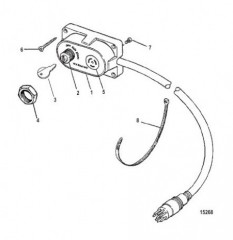 Схема Комплект ключа, обогатителя и устройства звукового сигнала (15000A 1)