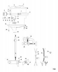 Двигатель для тралового лова в сборе (Модель T34) (12 В)