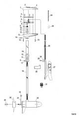 Схема Двигатель для тралового лова в сборе (Модель MP5200) (12 В)