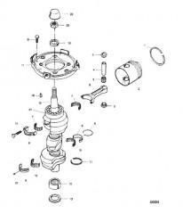 Схема Коленчатый вал и поршень