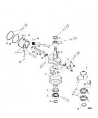 Схема Crankshaft Pistons and Connection Rods