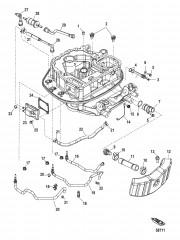 Прокладка шлангов переходной пластины