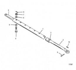 Комплект тяги – сдвоенная поворотно-откидная колонка (С усилителем рулевого механизма)