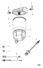 Комплект водоотделительного топливного фильтра С датчиком WIF
