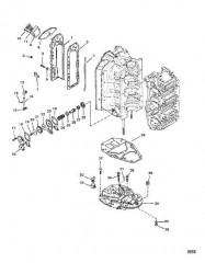 Схема Отделитель выхлопа и пластина выхлопа