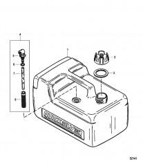 Схема Топливный бак в сборе (3.2 галл.) Резьбовой фитинг