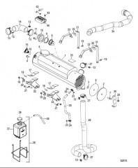 Схема Охлаждение пресной водой Теплообменник