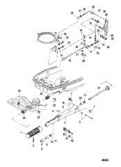 Тяга газа/рукоятка рулевого механизма