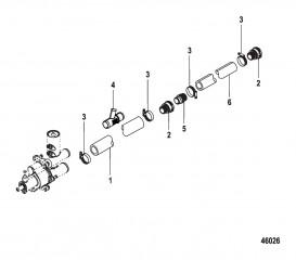 Стандартная система охлаждения (Bravo) шланги насоса забортной воды