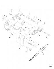 Схема Кронштейн переключения передач (Двигатели Alpha)