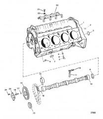 Схема CYLINDER BLOCK AND CAMSHAFT