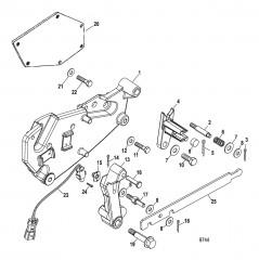 Схема Компоненты кронштейна переключения передач (Bravo – конструкция II)