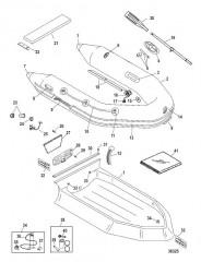 Схема Надувные лодки Dynamic из ПВХ – 280 /310 (Mercury 2009)