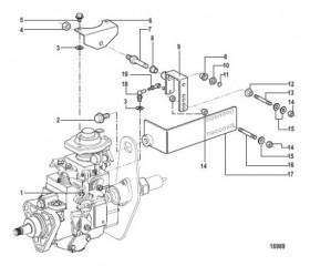 Схема Монтаж инжекторного насоса (Все механические двигатели)