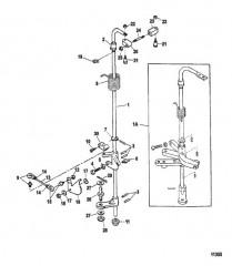 Схема Передаточный вал и тяга газа