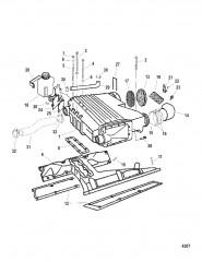 Схема Вторичный охладитель и впускной коллектор