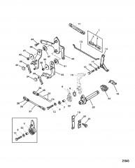 Схема Тяга газа/тяга управления переключением передач (Дистанционное управление)