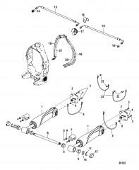Схема Цилиндры системы дифферента и гидравлические шланги