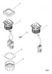 Комплект переключателя пуска/останова– панельное крепление