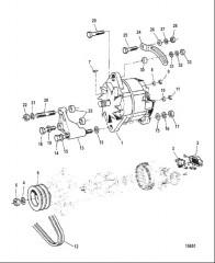 Схема Генератор и крепеж (4.2L 200)