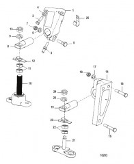 Схема Монтаж трансмиссии и двигателя (BORG-WARNER 5000)