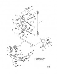 Схема Кронштейн якоря/тяга газа
