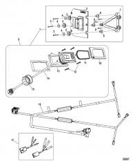 Комплект системы управления дифферентом Active Trim Сдвоенный двигатель – 150 EFI четырехтактн./Optimax
