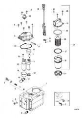 Схема Компоненты топливного модуля Bravo
