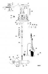 Схема Двигатель для тралового лова в сборе (TR82PFB / TR82PFBD) (24 В)