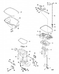 Схема Корпус ведущего вала/пластина выхлопа