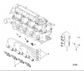Электрические компоненты Катушка, свечи зажигания и провода