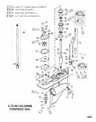 Схема КАРТЕР РЕДУКТОРА (ПРИВОД – СТАНД./ПРОТИВОВРАЩЕНИЕ-С/Н-0G960499 И НИЖЕ)