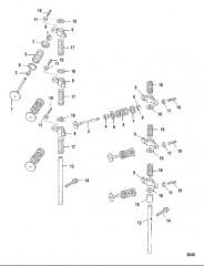 Схема Впускной и выпускной клапан